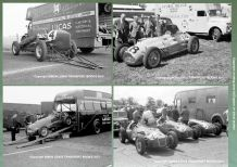 "F1 Race Team Transporter Photos. 4x 1950s  - ERA,Talbot Lago, HWM, Ecurie Ecosse(all 7x5"")"